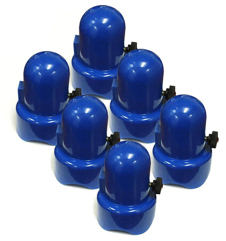 Trampoline Enclosure Pole Cap - Blue - Set of 6