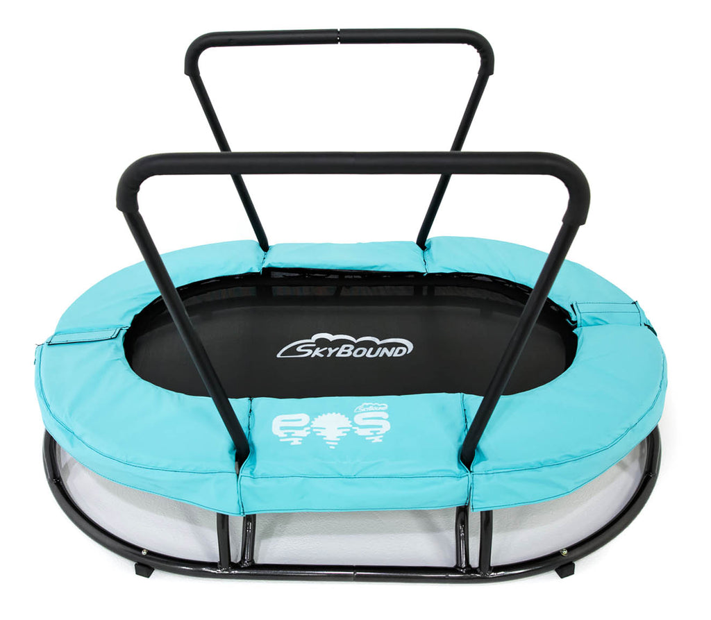 "SkyBound ""Eos"" Children's Mini Trampoline with Handle (for Sensory / Autism) + FREE Socks & Fidget Spinner"