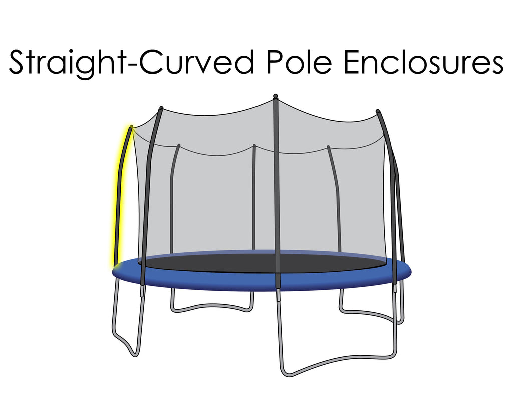 Replacement Net for 15ft Trampolines - Fits 8 Straight-Curved Poles