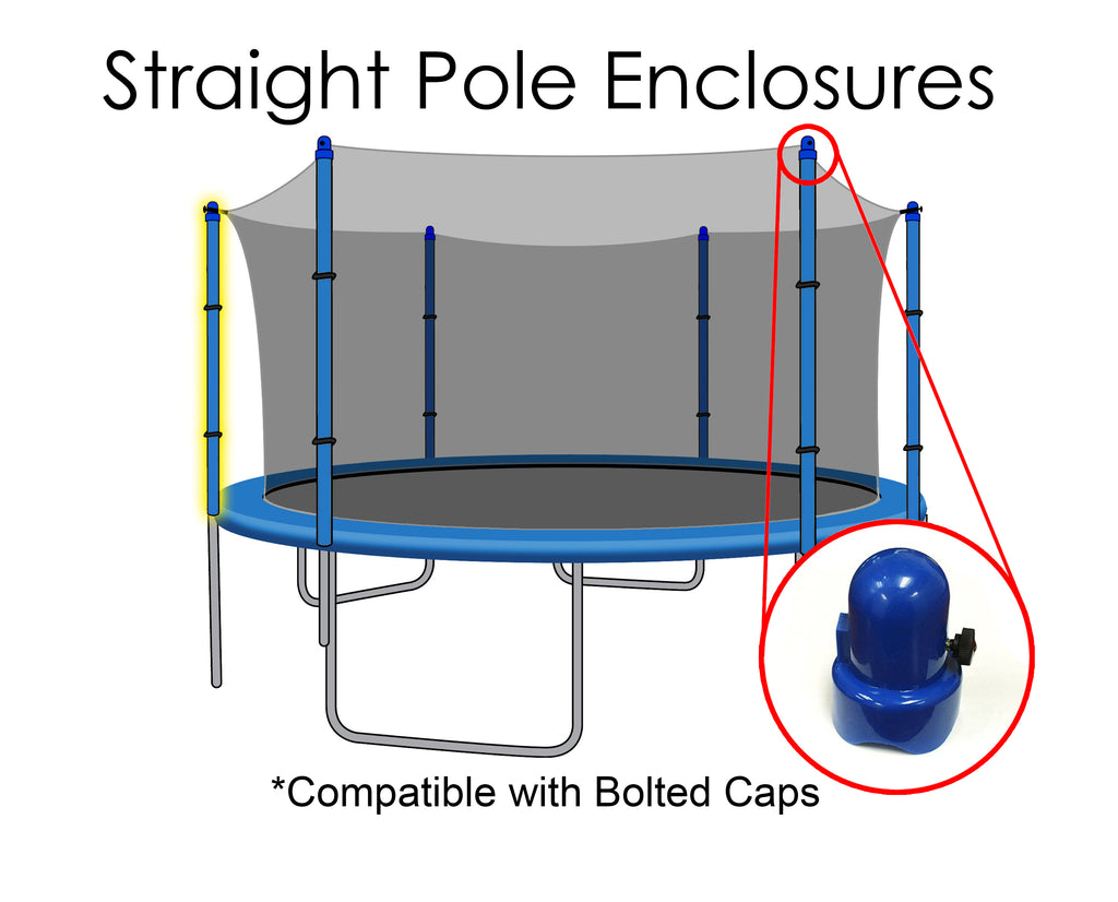 Replacement Net for 15ft Trampolines - Fits 6 Straight Poles (Using Bolted Pole Caps)