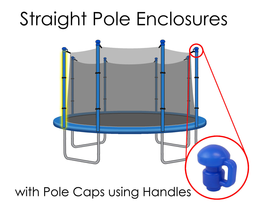 Replacement Net for 12ft Trampolines - Fits 8 Straight Poles (Using Handled Caps)