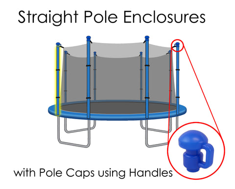 Replacement Net for 15ft Trampolines - Fits 8 Straight Poles (Using Handled Caps)