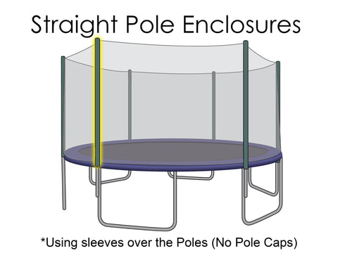 Replacement Net for 14ft Trampolines - Fits 6 Straight Poles (Using Pole Sleeves)