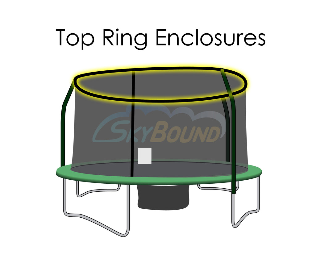Replacement Net for 15ft Trampolines - Fits Top Ring Enclosures with 4 Poles