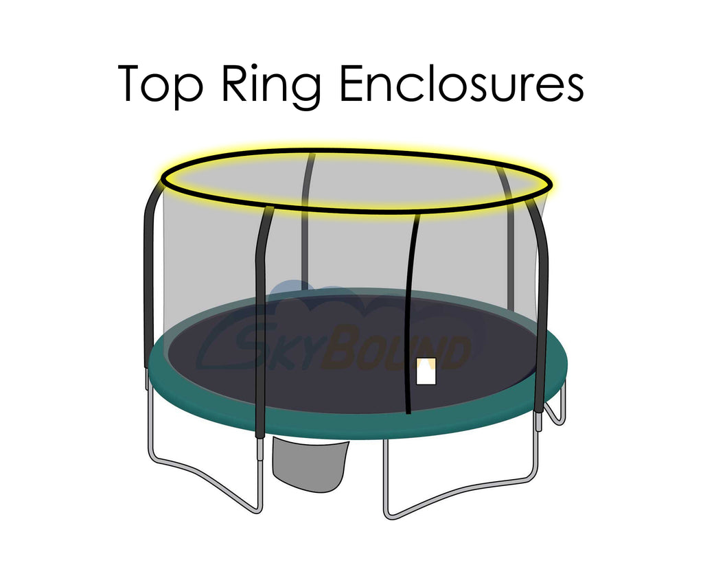 Enclosure Net for 15ft Trampolines - Fits Top & Bottom Ring Enclosures with 5 Poles