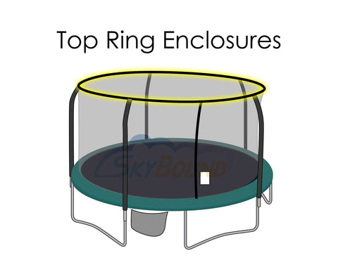 Replacement Net for 15ft Trampolines - Fits Top & Bottom Ring Enclosures with 5 Poles
