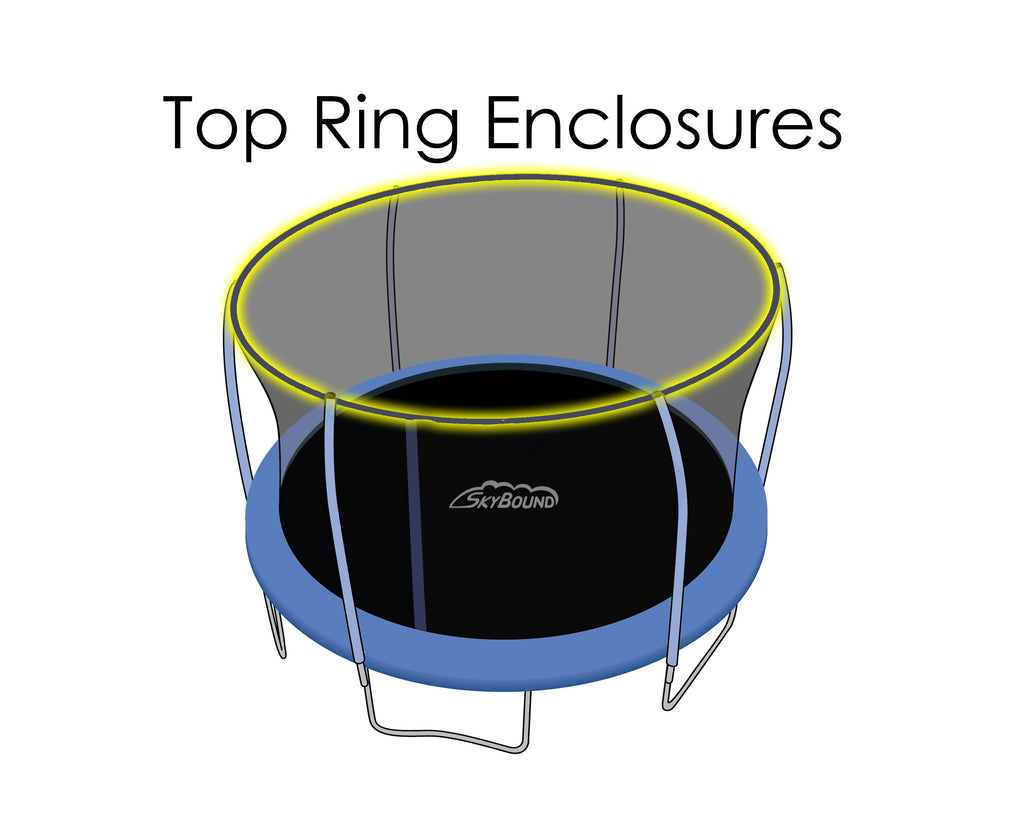 Replacement Net for 15ft Trampolines - Fits Top Ring Enclosures with 6 Poles