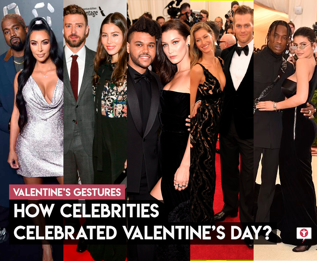 How celebrities celebrated Valentine's day?