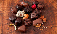 Chocolates and wine tasting on Valentine's Day