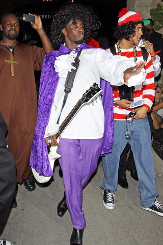 Sean P.Diddy Combs as Prince for Halloween
