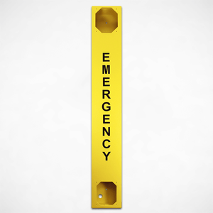 "<h3>259066</h3> Yellow Tower Phone Chassis with ""Emergency"" Lettering"