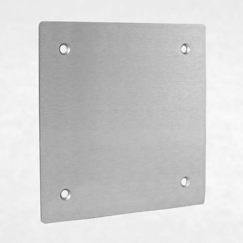<h3>260095</h3> Blank Aluminum Faceplate for VE-5x5 and VE-5x5-PNL Series