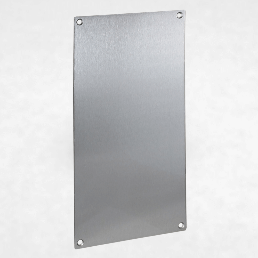 <h3>260623</h3> Blank Aluminum Faceplate for VE-5x10 and VE-5x10-PNL Series