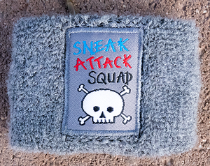 Official Sneak Attack Squad Grey Sweat Band!
