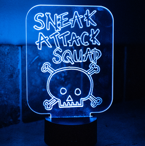 Sneak Attack Squad Multi Colored Night Light.