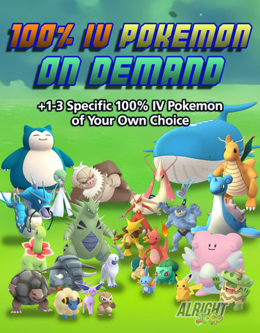 100% IV Pokemon on Demand