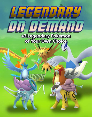 Legendary Pokemon on Demand - Pokemon GO Boost Service