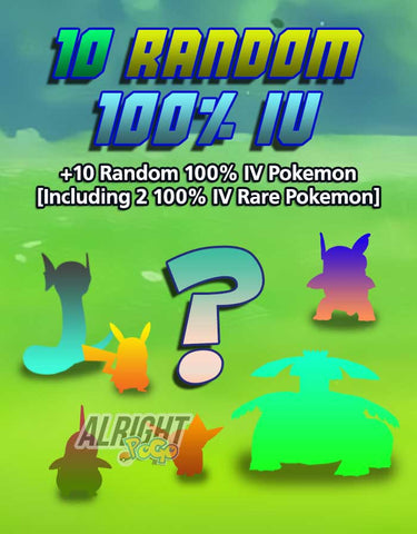 10 Random 100% IV Pokemon - Pokemon GO Boost Service