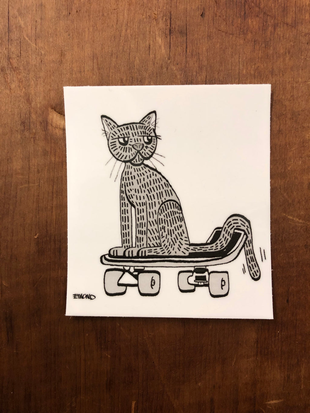 Skater Cat Sticker