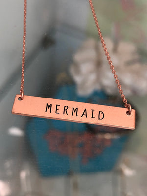Mermaid Bar Necklace