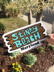 Stinky Beach logo sticker