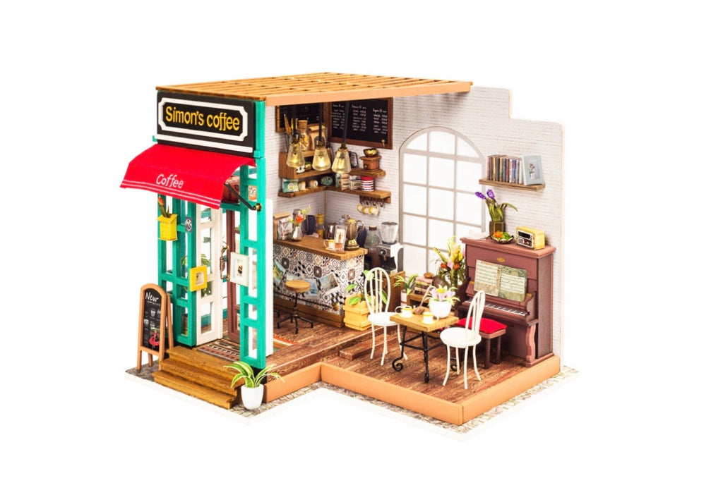 Simon's Coffee Shop DIY Dollhouse Miniature Kit