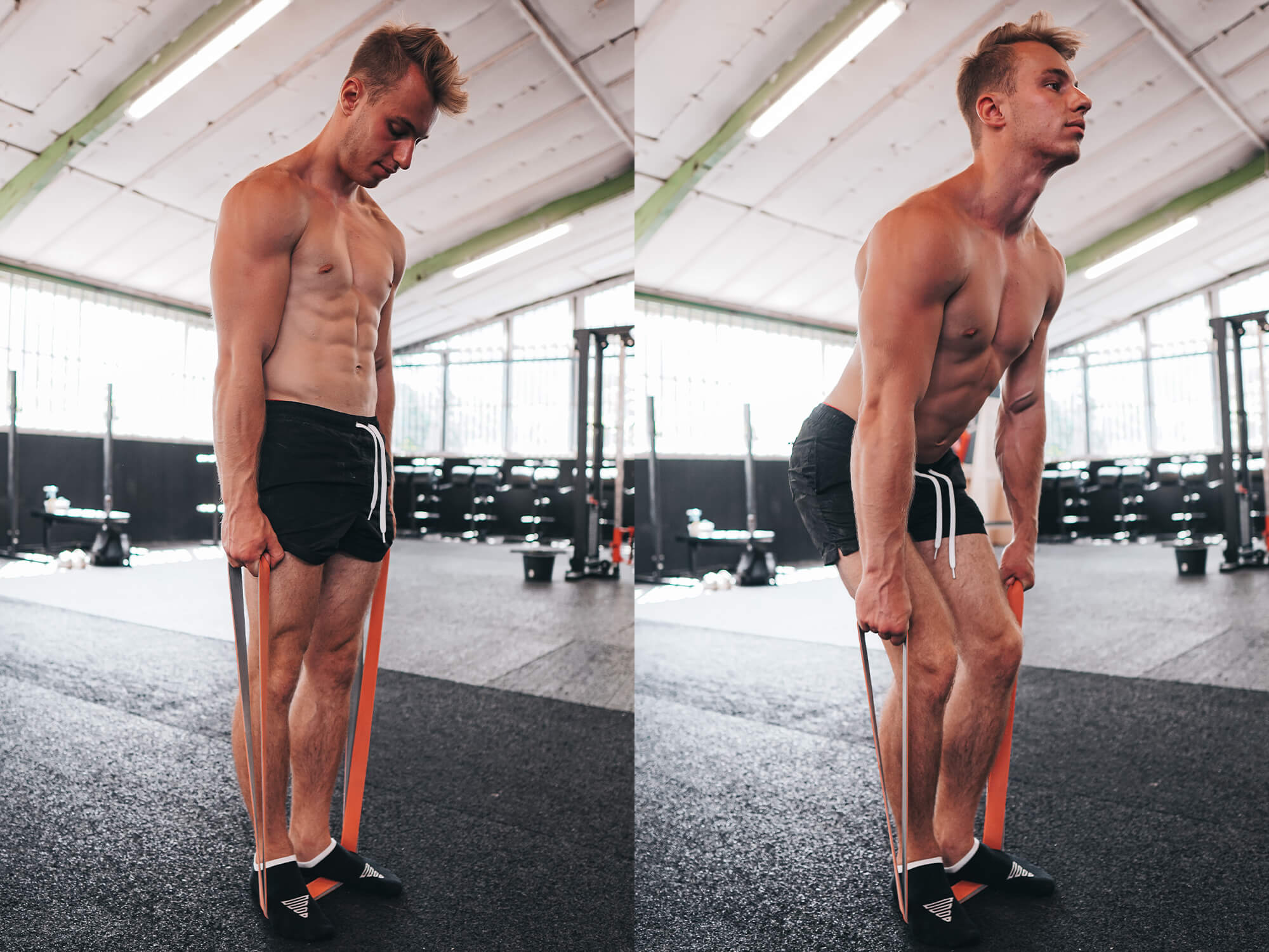 deadlifts in calisthenics with a resistance band