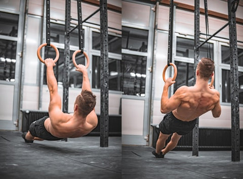 Workout Gymnastic Olympic Rings Crossfit Gym Fitness Strength Training Exercise