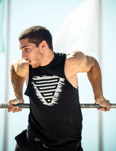 Calisthenics & Street Workout Athlete Dan Rosenberg wearing Vintage Tank Top