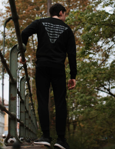 BarCode Loose Fit Sweatshirt Men Black