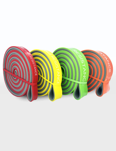 GORNATION Premium Double Layer Resistance Bands Red, Yellow, Green, Orange