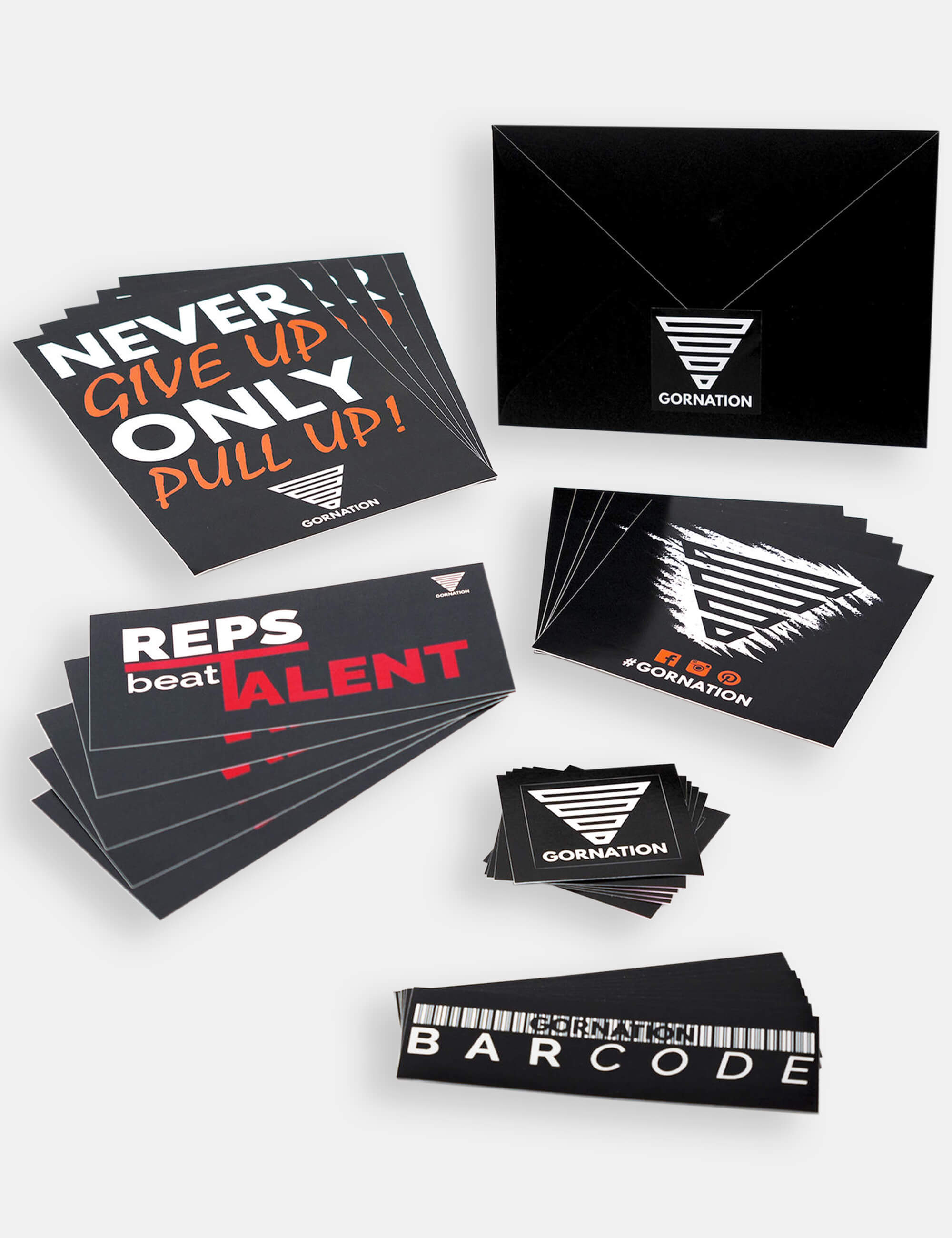 Calisthenics Gornation sticker collection.