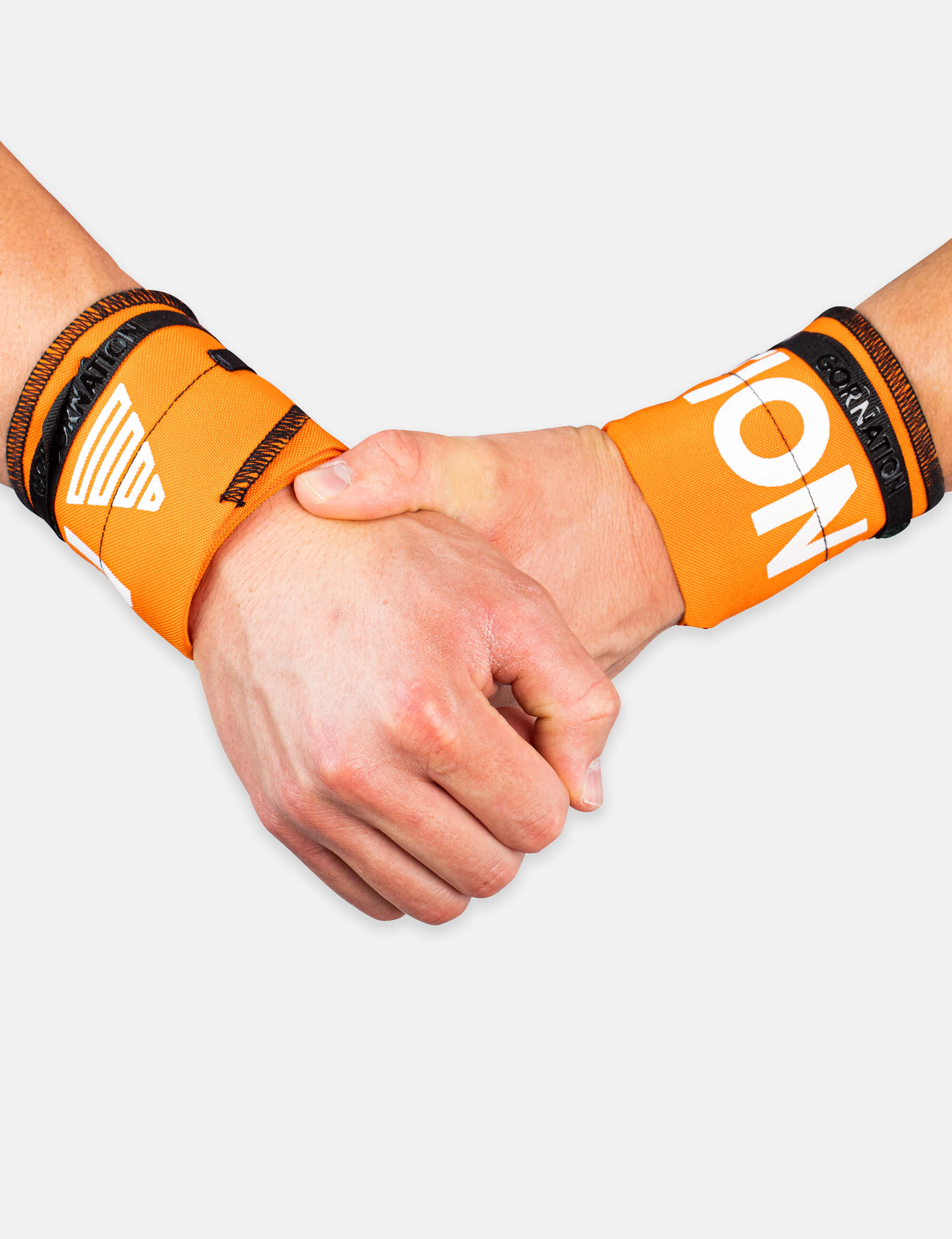 Orange Gornation Wrist wraps with tight fit, adjustable wristband for wrist support and injury prevention