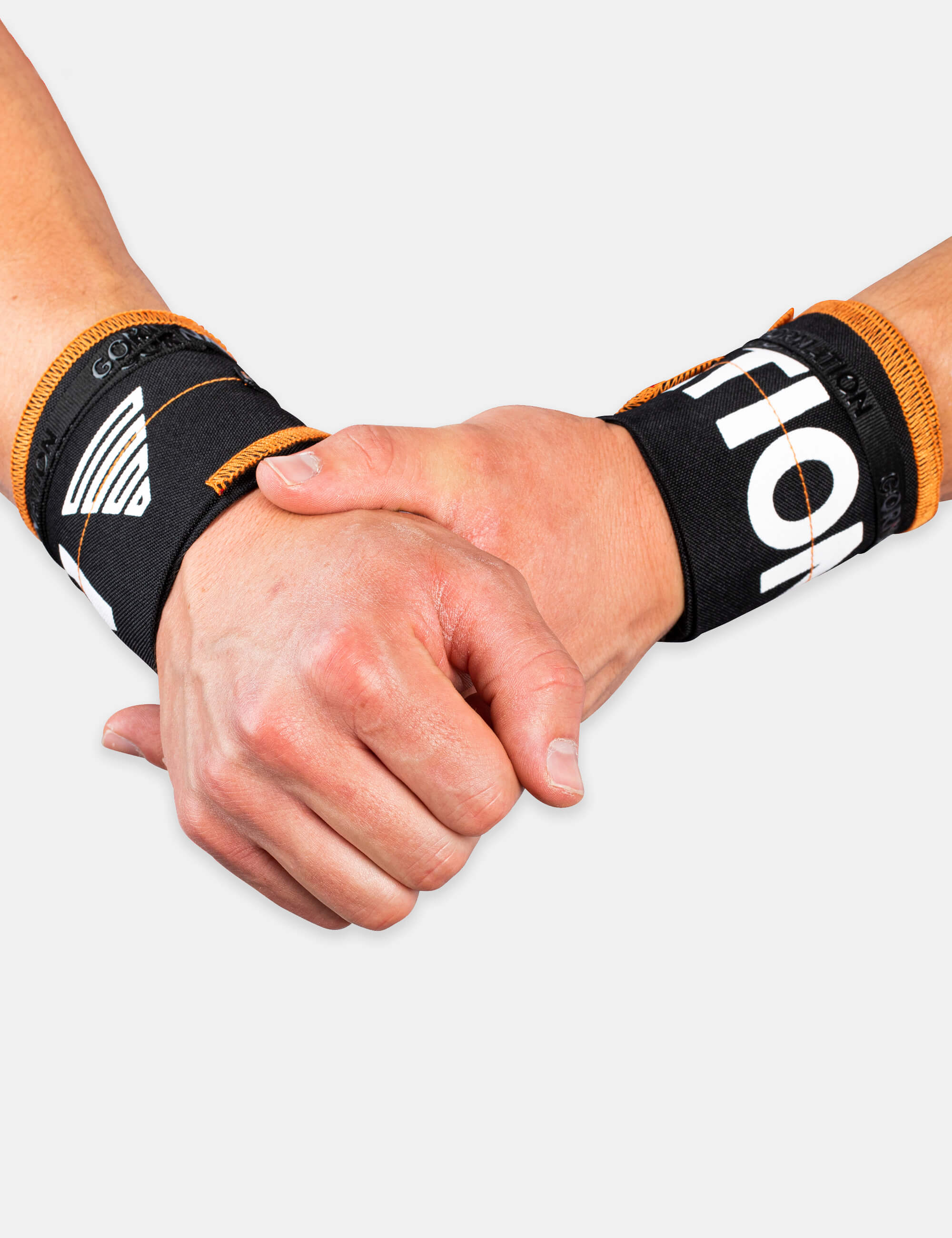 Black-Orange Gornation Wrist wraps with tight fit, adjustable wristband for wrist support and injury prevention
