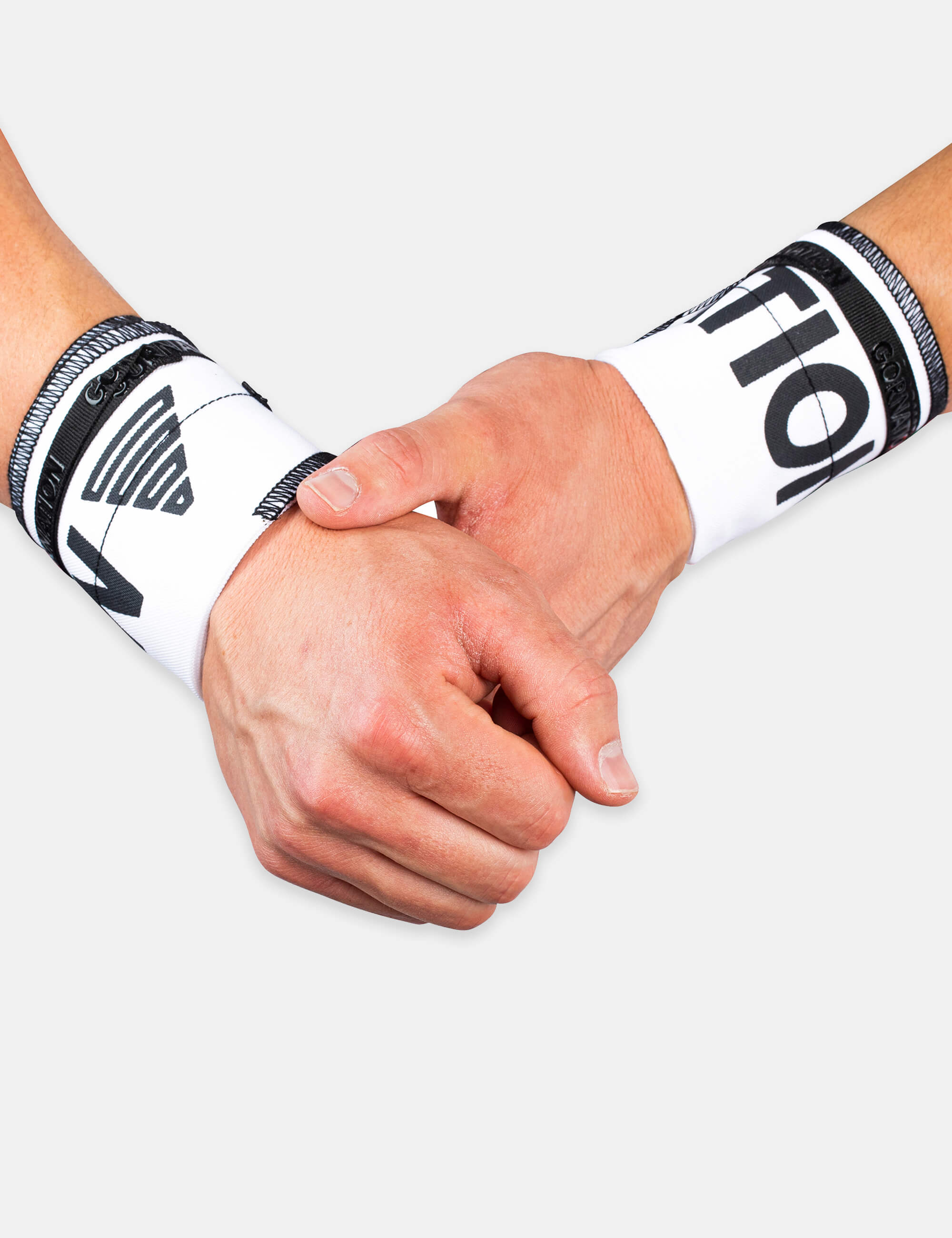 White Gornation Wrist wraps with tight fit, adjustable wristband for wrist support and injury prevention