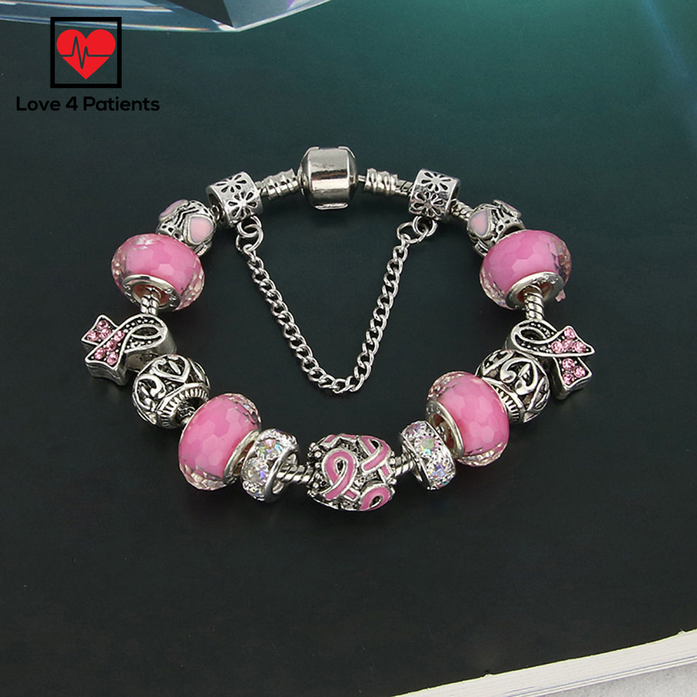 bracelet cancer awareness amor cerrada breast