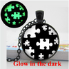 Glow in the Dark Autism Awareness Puzzle Pieces Necklace