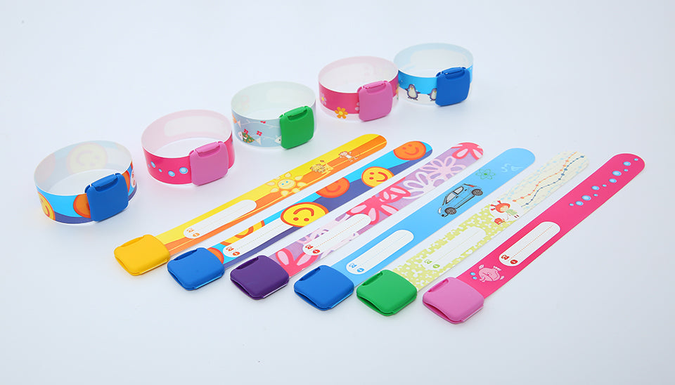Re-useable Identity ID Wristband for Kids ID (Pack of 3)