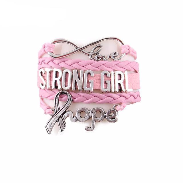 Stronger Girl hope bracelet for Awareness