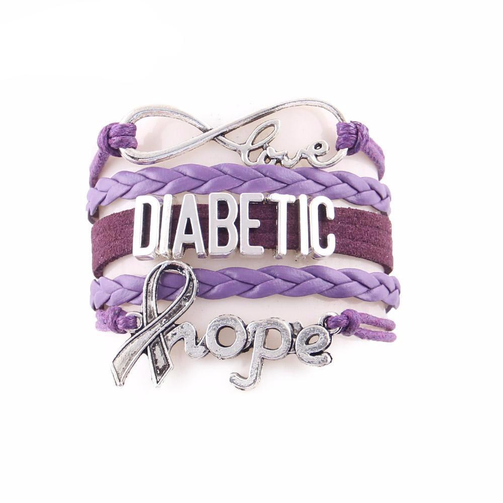 Diabetic hope bracelet for Diabetes Awareness