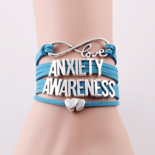 Not All Wounds Are Visible Anxiety Awareness hope bracelet for Anxiety Awareness