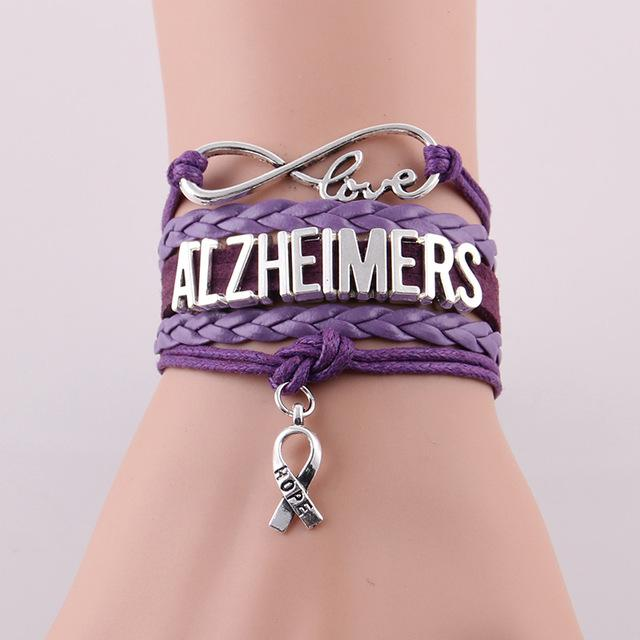 Alzheimers hope bracelet for Alzheimer's Disease Awareness