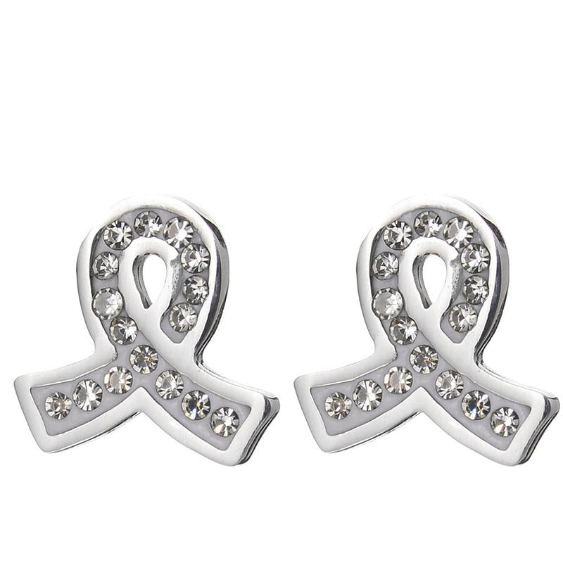 Breast Cancer Awareness Stainless Steel Jewelry Set