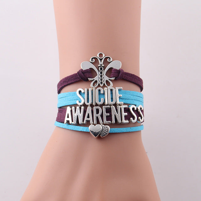 Suicide Awareness hope bracelet for Suicide Awareness