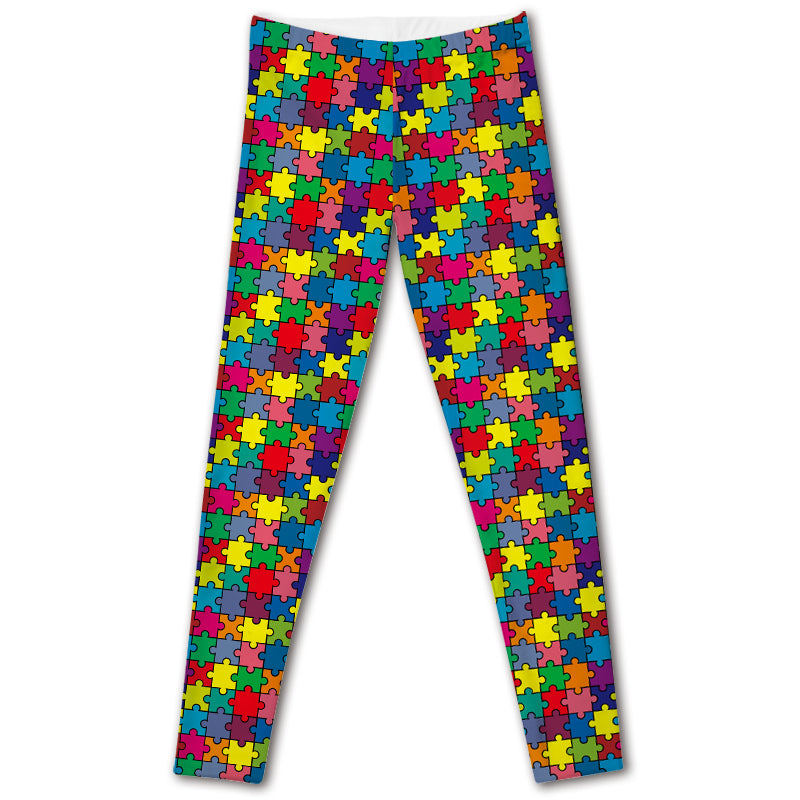 Puzzle Pieces Autism Awareness Super Soft Leggings