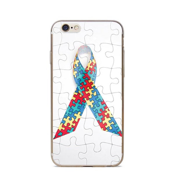 Puzzle Pieces Autism Awareness Ribbon Case for iPhones