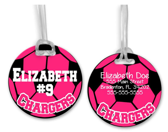Soccer Bag Tag, Sports Bag Tags