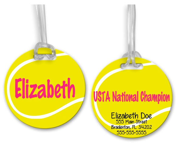 Tennis Bag Tag, Sports Bag Tags