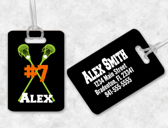 Lacrosse Bag Tag, Sports Bag Tags