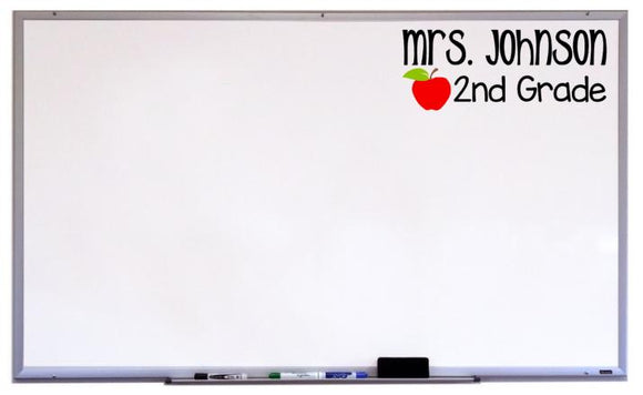 Name and Grade Classroom Decor, Classroom Decal